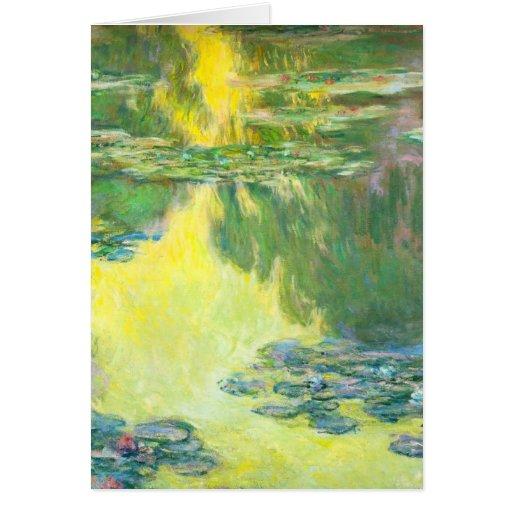 Tarjeta de felicitación de Waterlilies de la puest