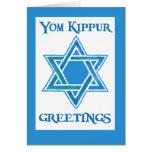 Tarjeta de felicitación de Yom Kipur - estrella de