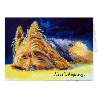Tarjeta de felicitación de Yorkshire Terrier