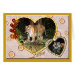 Tarjeta de felicitación decorativa del tigre