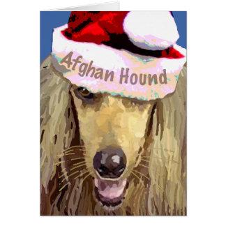 Tarjeta de felicitación del afgano del navidad