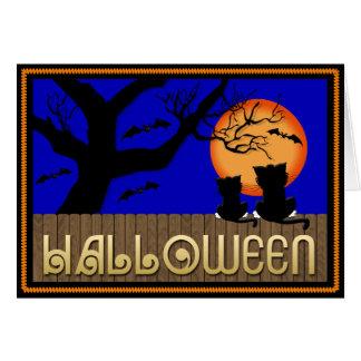 Tarjeta de felicitación del alcohol de Halloween