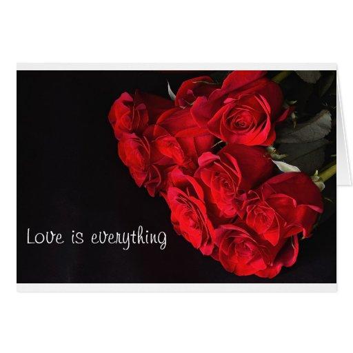 Tarjeta de felicitación del amor