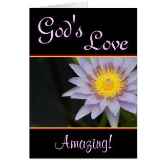 Tarjeta de felicitación del amor de dios