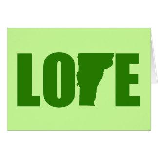 Tarjeta de felicitación del amor de Vermont