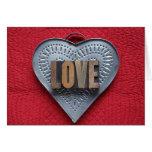 tarjeta de felicitación del amor del corazón de la