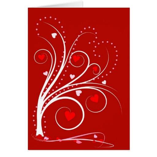 Tarjeta de felicitación del amor del el día de San