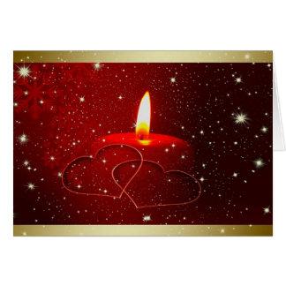 Tarjeta de felicitación del amor del navidad