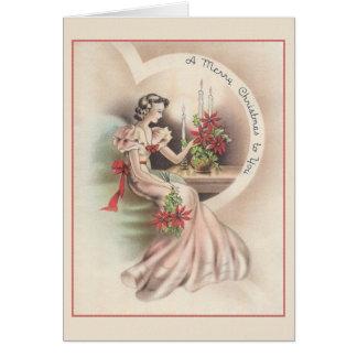 Tarjeta de felicitación del amor del navidad del