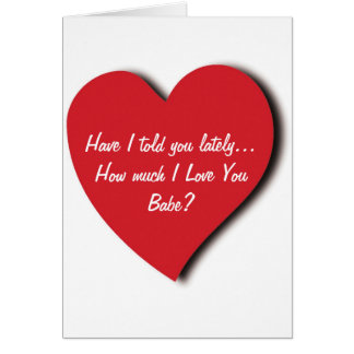 Tarjeta de felicitación del amor - tengo le dije ú