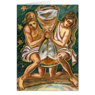 Tarjeta de felicitación del amor y del tiempo