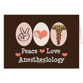 Tarjeta de felicitación del Anesthesiology del amo