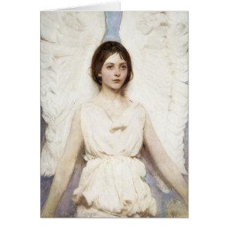 Tarjeta de felicitación del ángel de Abbott Hander
