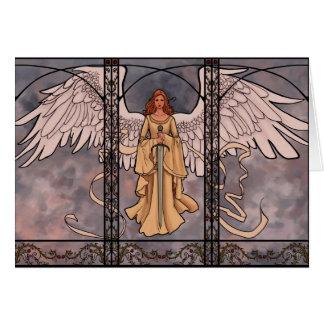 Tarjeta de felicitación del ángel de guarda