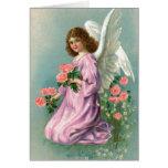 Tarjeta de felicitación del ángel de Pascua del vi