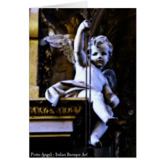 Tarjeta de felicitación del ángel de Putto
