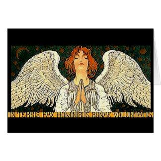 Tarjeta de felicitación del ángel del Pax