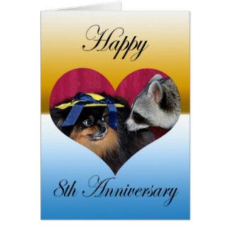 Tarjeta de felicitación del aniversario de boda