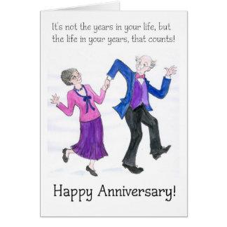Tarjeta de felicitación del aniversario para más