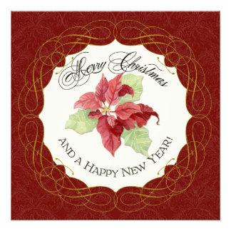 Tarjeta de felicitación del Año Nuevo de las Felic Comunicado