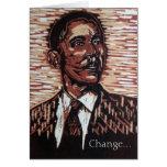 Tarjeta de felicitación del Año Nuevo de Obama