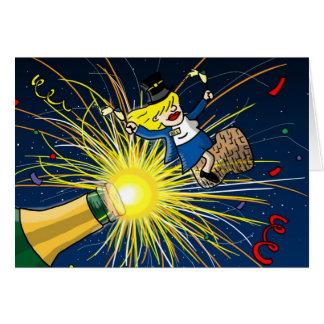 Tarjeta de felicitación del Año Nuevo del