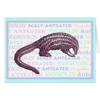 Tarjeta de felicitación del Anteater escamoso/del