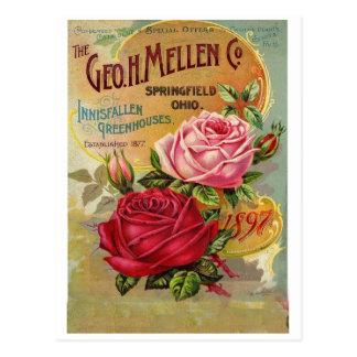Tarjeta de felicitación del anuncio del vintage cu tarjetas postales