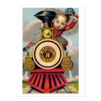 Tarjeta de felicitación del anuncio del vintage pa tarjeta postal