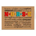 Tarjeta de felicitación del aprecio de la enfermer