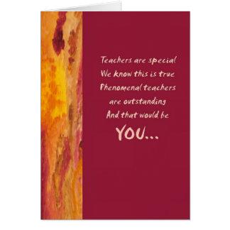Tarjeta de felicitación del aprecio del profesor