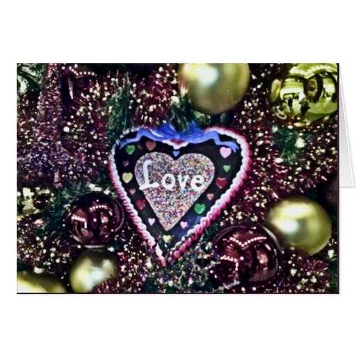 Tarjeta de felicitación del árbol de amor del navi