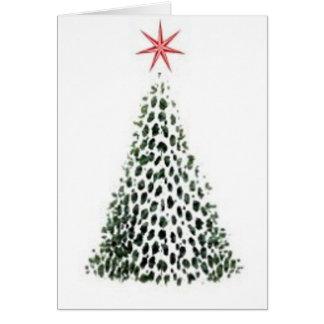 Tarjeta de felicitación del árbol de la estrella d