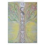 Tarjeta de felicitación del árbol de la unidad - e