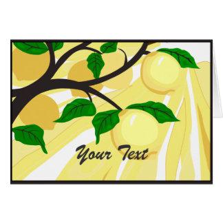 Tarjeta de felicitación del árbol de limón