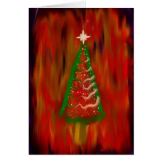 Tarjeta de felicitación del árbol de navidad de Di