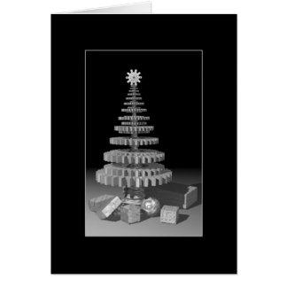 Tarjeta de felicitación del árbol de navidad de la