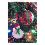 Tarjeta de felicitación del árbol de navidad del m