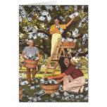 Tarjeta de felicitación del árbol del dinero