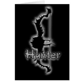 tarjeta de felicitación del arco del cazador