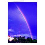 Tarjeta de felicitación del arco iris