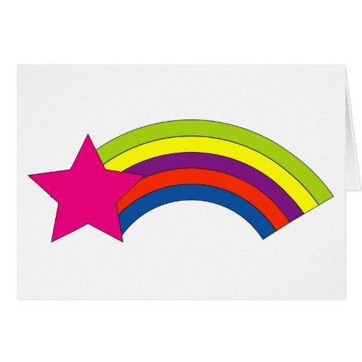 tarjeta de felicitación del arco iris de la estrel