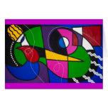 Tarjeta de felicitación del arte abstracto