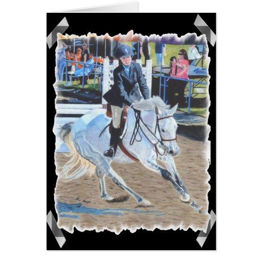 Tarjeta de felicitación del arte de Horseshow