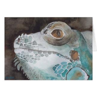 Tarjeta de felicitación del arte de la iguana