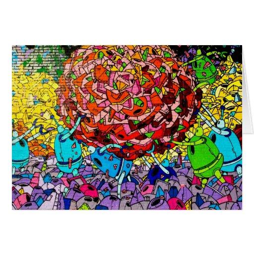 Tarjeta de felicitación del arte de la pintada