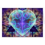 Tarjeta de felicitación del arte del fractal del