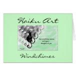 Tarjeta de felicitación del arte del Haiku de Wind