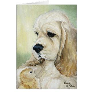 Tarjeta de felicitación del arte del perro de