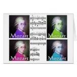 tarjeta de felicitación del arte pop de Mozart